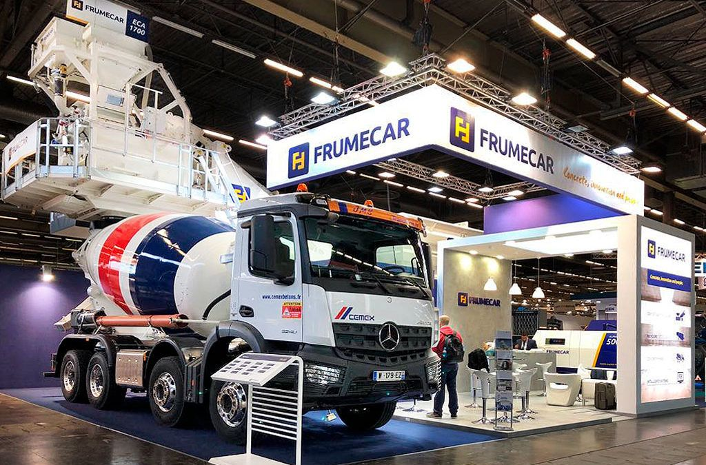 Frumecar, presents its new image in Intermat 2018.